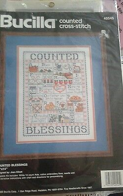 Bucilla Counted Blessing Alphabet Sampler Cross Stitch Kit Joan Elliott 40545