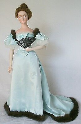 """1894 Victorian Doll Evening Dress Sewing Pattern for 24"""" Doll #87"""