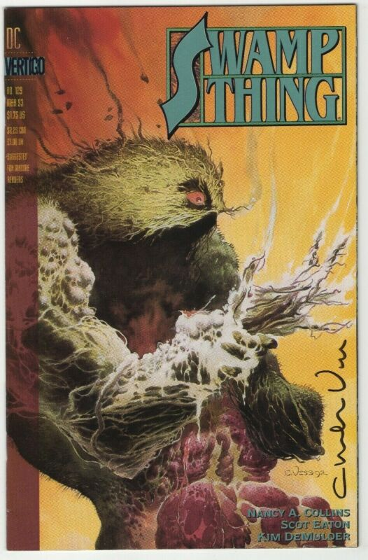 SWAMP THING #129 SIGNED CHARLES VESS  #482 JUSTICE LEAUGE DARK