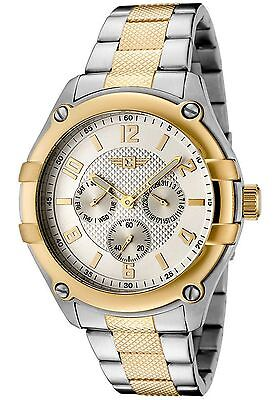 Invicta Gold Oro Plata Silver Crystal Reloj Man Watch Bracelet Hombre Pulsera