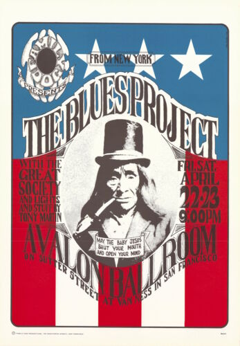 Great Society (Grace Slick) Blues Project 1966 FD 5 Family Dog Fillmore Poster