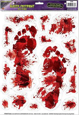 Bloody Footprints Peel 'N Place Halloween - Bloody Footprints