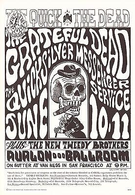 Grateful Dead Quicksilver 1966 FD 12 QUICK & THE DEAD Family Dog Poster