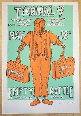 2001 Terminal 4 - Chicago Silkscreen Concert Poster S/N by Dan Grzeca