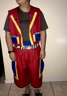 Professional Clown Costume For Adults, Red And Blue, Handmade