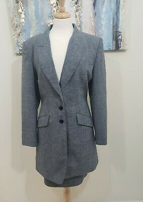 RACHEL ZOE Women 2PC Gray Skirt Suit Size 14