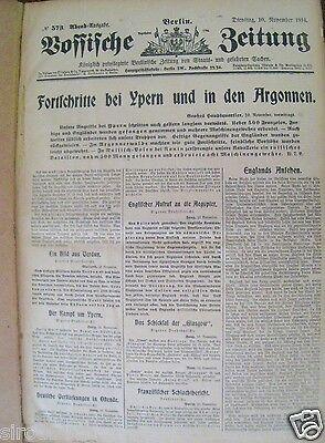 Vossische Zeitung 10. November - 5. Dezember 1914 1. Kriegsjahr RAR gebunden