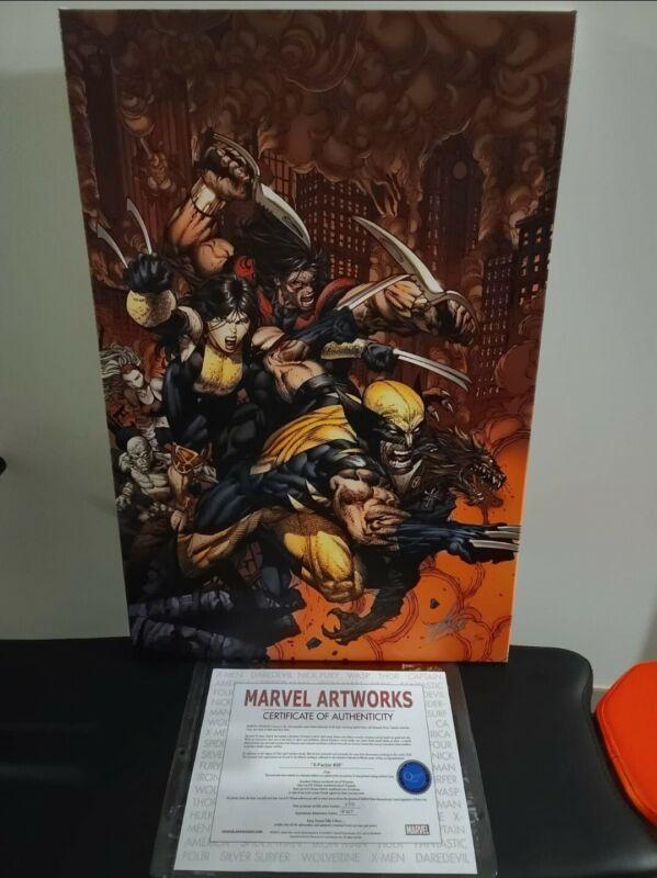 STAN LEE signed AVENGERS Marvel ORIGINAL COMIC Artworks Canvas X-Factor #26