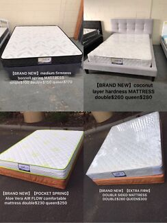 Brand new pocket spring mattress for sale from$170, base from$140