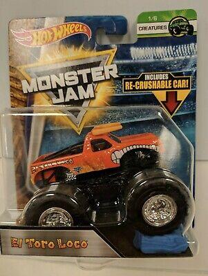 Hot Wheels Monster Jam El Toro Loco 2017 Creatures Re-Crushable Car