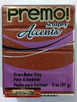 M00614 MOREZMORE Premo Accents Sculpey BRONZE 5519 2 oz Polymer Clay A60