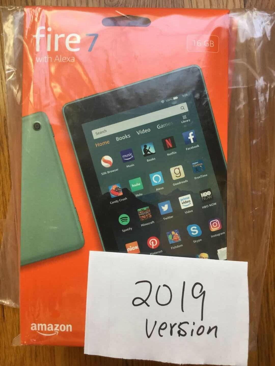 "New Amazon Fire 7 Tablet 16 GB 9th Gen 2019 Alexa 7""- SAGE"