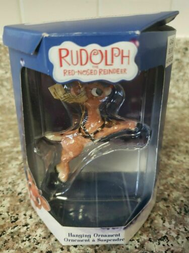 RUDOLPH FLYING Leaping Christmas Ornament Enesco Rudolph Island of Misfit Toys