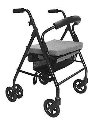 Andador Plegable con asiento viscoelástico,con freno en rueda por presion