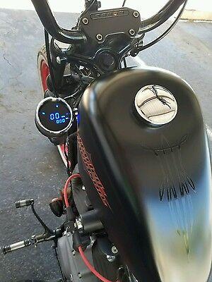 ♤ Harley Sportster Speedometer Relocation Kit w/ Handlebar Clamp Bobber LOOK ♧