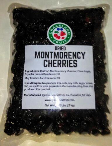 Dried Tart Montmorency Cherries 2 lbs (32 oz) Dry Cherry Bag