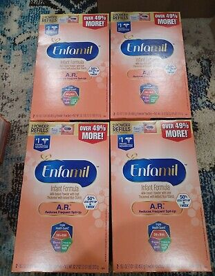 Enfamil A.R. Infant Formula Reduce Spit-Up 2 Refills per box 16.1oz each 8 total