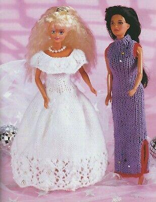 [72] Knitting Pattern Doll Fashion Teenage Barbie 4mm Needles DK 2 dresses
