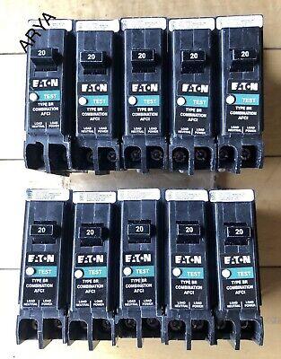 10 Pcs Eaton Cutler Hammer Brn120af Brcaf120 Arc Fault 20 Amp Breaker Type Br