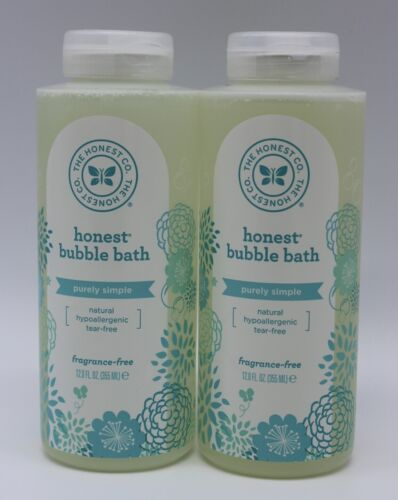 The Honest Co Purely Simple Bubble Bath Fragrance Free 12 Fl Oz (Lot Of 2)