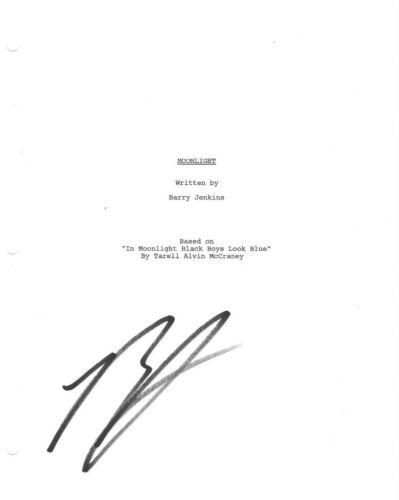 * BARRY JENKINS * signed movie script * MOONLIGHT * DIRECTOR * COA * 2