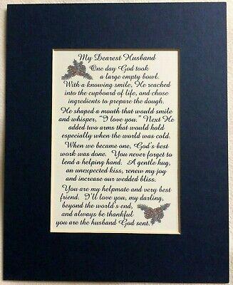 Dearest HUSBAND Joy Love Helpmate BEST FRIEND Thankful God verses poems (Best Friend Love Poems)