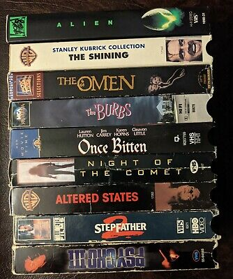 VHS Lot Horror SciFi 9 Tapes Horror Comedy