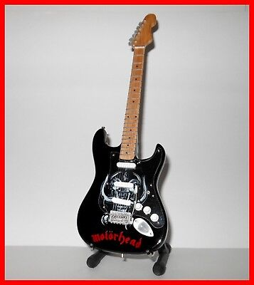 MOTORHEAD GUITARE MINIATURE ! Collection LEMMY Basse Logo Heavy Metal Hard Rock