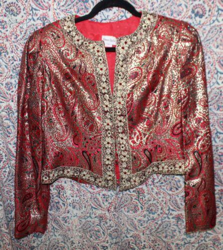 Vintage Neiman-Marcus Ladies Metallic Evening Jacket Original Tags Size 12