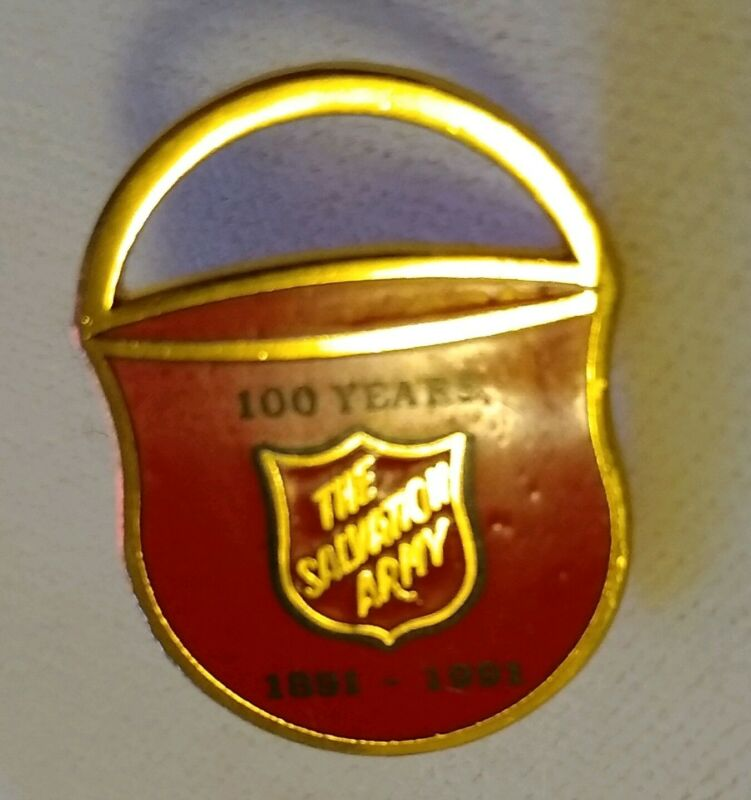 Vintage Salvation Army 100 Years Enamel Lapel Pin 1891-1991