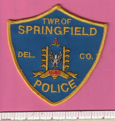 Springfield Twp. Pa State Pennsylvania Police Shoulder Patch - Delaware County