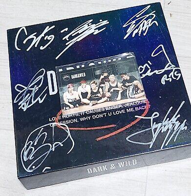 BTS Dark & Wild Promo Album Original Autographed Signed kpop jin jk jimin v rm