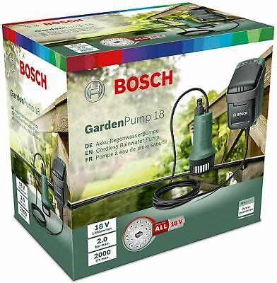 Bosch 18V GardenPump 18 - Rainwater Garden Pump 2bar 2000L/h