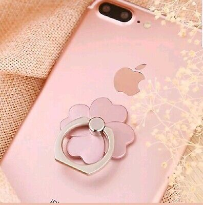 Pop Up Finger Ring For All Phones with Iphone Charge Cable Rose Gold