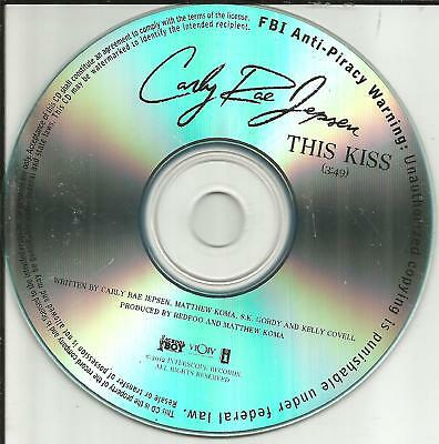 Carly Rae Jepsen The Kiss Ultra Rare Tst Press Promo Dj Cd Single 2012 Usa