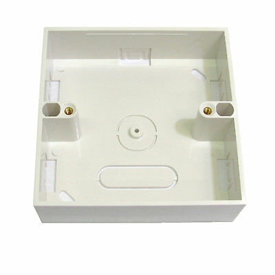 4 x SINGLE RJ45 Network Ethernet Socket Wall Mount Plate Back Box Multi Pack New