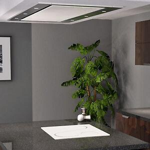 MyAppliances ART10213 100cm White Glass Designer Ceiling Cooker Hood Extractor
