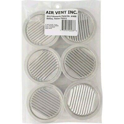 Air Vent 3 In. Aluminum Mini Louver (6 Count) 50002  - 1 Each