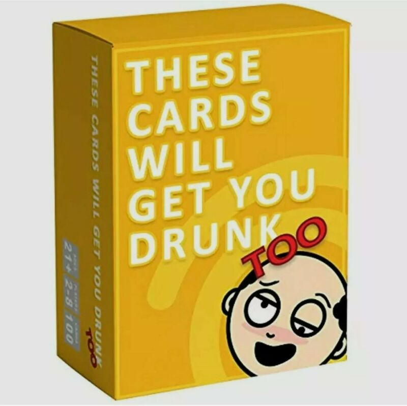 """GrownUp Toys These Cards Will Get You Drunk Too Expansion - Fun Adult Drinking """""""