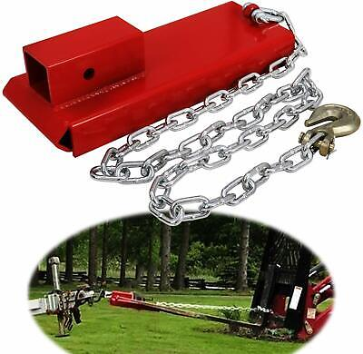 2 Pallet Fork Trailer Towing Adapter Clamp On Forklift Hitch Receiver W Chain