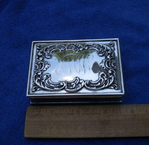 Fine Small DURGIN Sterling CIGARETTE(?) BOX-Scroll Top-Theodore B. Starr-Mono MW