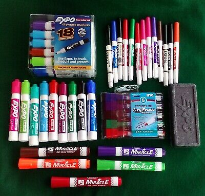 50 Pc Dry Erase Marker Lot Expo Rose Art More  Free Shipping