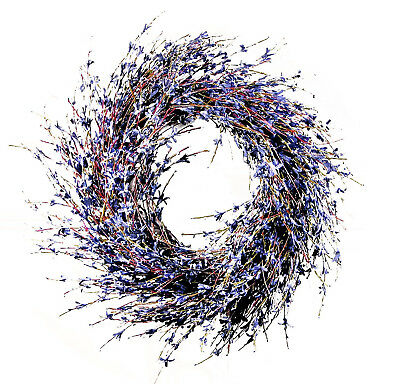 Faux Dried Lavender Floral Door Wreath ()