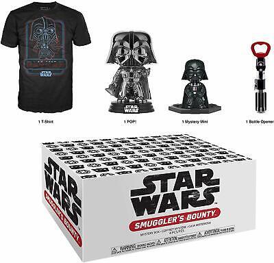 Smugglers Bounty Box Black Chrome Darth Vader STAR WARS Funko Pop + 2XL T-shirt