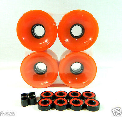 Blank 60mm Longboard Cruiser Multi Color Wheels + ABEC 7 Bearing  + Spacers on Rummage