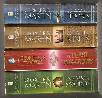 GEORGE R. R. MARTIN, GAME OF THRONES , 4 BOOK SET,  A SONG OF ICE AND  FIRE  VG