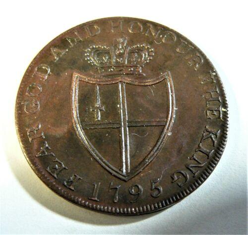 Great Britain 1795 Middlesex W William London Conder Half Penny XF/AU SB1