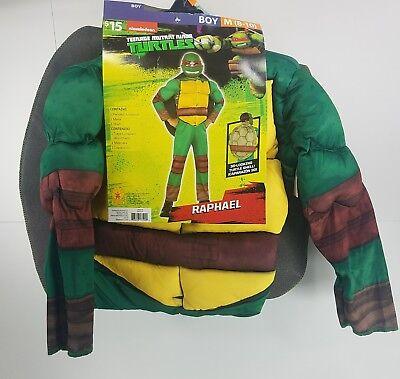 Halloween Costume TMNT Raphael Boy 8-10 Teenage Mutant Ninja Turtle Outfit GG