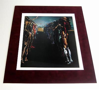 Salvador Dali Palladio's Thalia Corridor vint 50 years old suede matted art
