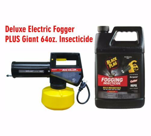 Electric Powered Mosquito / Bug / Insect Fogger Plus 64oz. Insecticide